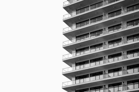 Black and white architecture building wall design minimalism style.