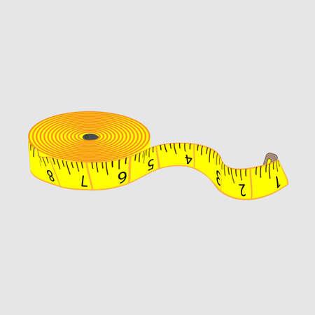 millimeters: tailor meter Illustration