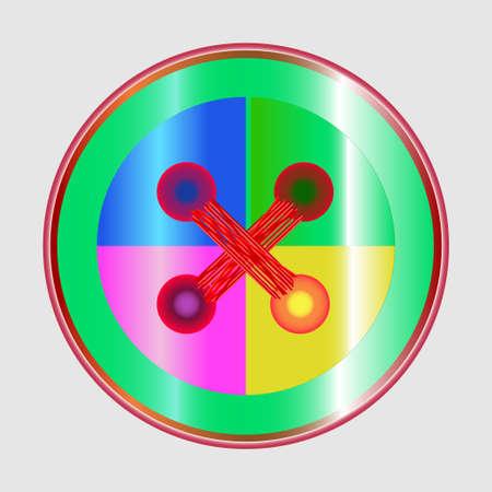 punto de cruz: botón