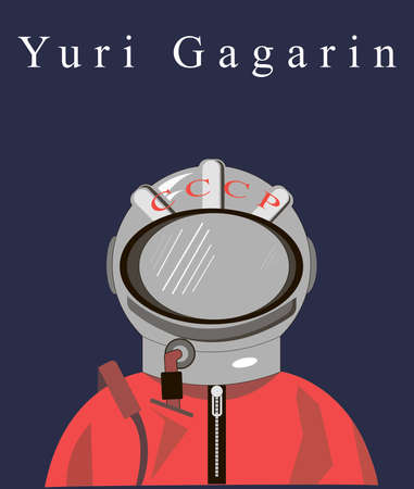 Cosmonaut Yuri Gagarin Illustration