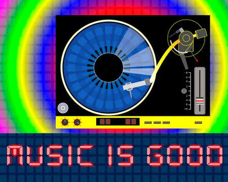 Music vinyl player Ilustração
