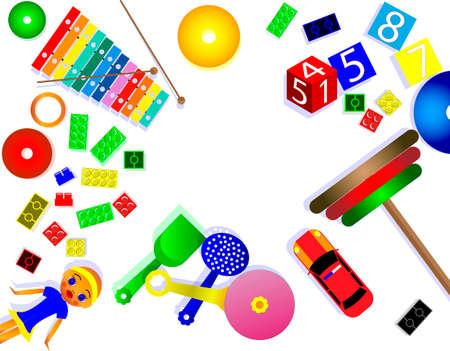 foto del concepto del mundo del juguete para niños