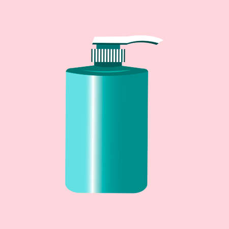 Liquid soap for hands on a light background. Vector illustration.