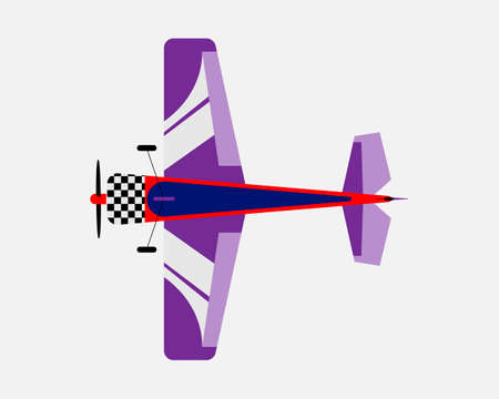 Airplane with a propeller. Bottom view. Vector illustration.
