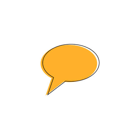 The sign of the message. Yellow on a white background. Vector illustration