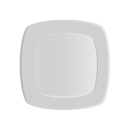 Square dinner plate pattern. Vector illustration on a white background