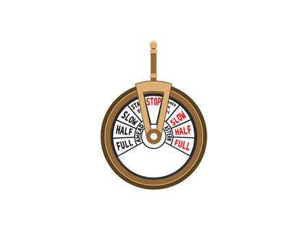 Telegraph machine isolated on white background. Vector illustration