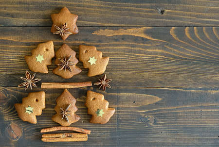 xmas background: Gingerbread Xmas tree background
