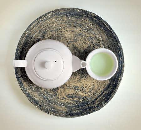 O chá verde conceito Imagens