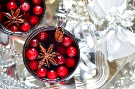 Cristmas tradicional bebida quente ou  Imagens