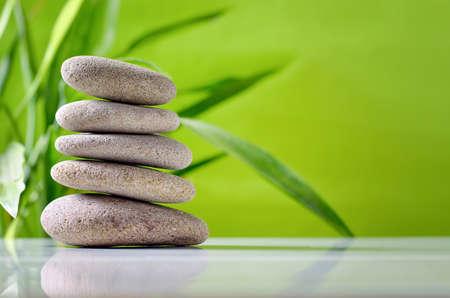 Zen stones stack, spa and harmony concept