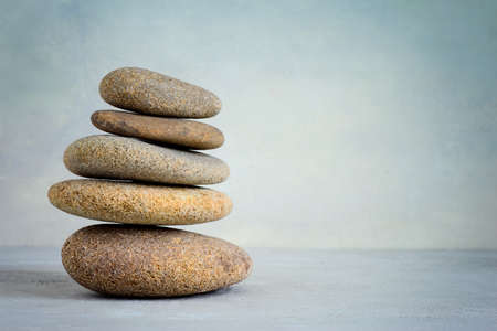 Spa stones stack, stylized photo