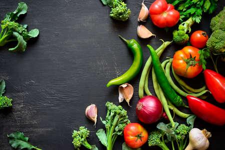 季節の野菜料理のコンセプトは、上からの眺め