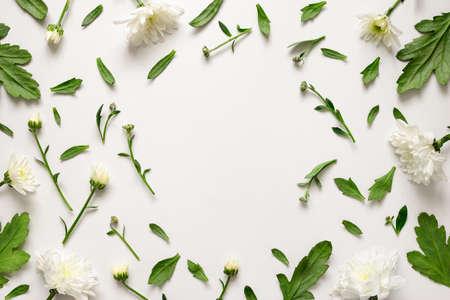 Fundo floral com espaço em branco para um texto, lay
