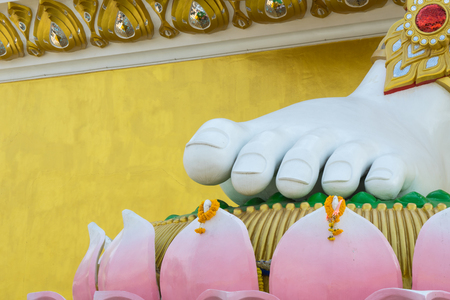 Feet of the buddha and lotus