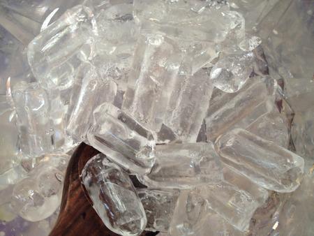 icecubes: ice with scoop Stock Photo