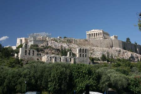 the rock of parthenon