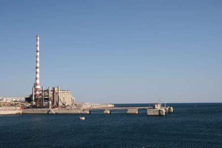 industry by the sea piraeus Foto de archivo