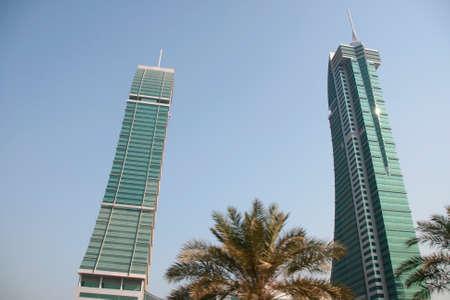bahrain twin towers modern buildings