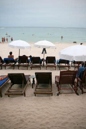 Sun beds Chaweng Beach Koh Samui Island thailand photo