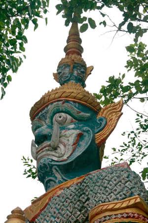 daemon: daemon guard of big buddha temple samui island thailand Stock Photo