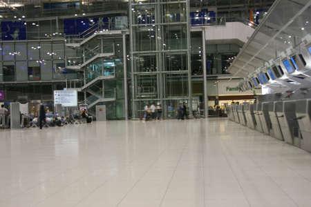 moving activity at bangkok international airport