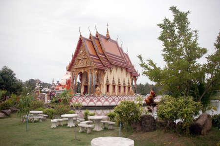 southeastern: Wat Pai Laem temple in samui island thailand