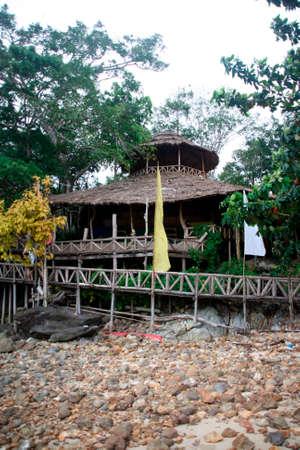 tree house restaurant koh chang island thailand photo