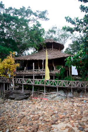 tree house restaurant koh chang island thailand photo