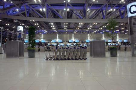 airport trolley night shut at bangkok new airport suvarnabhummi