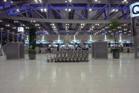 airport trolley night shut at bangkok new airport suvarnabhummi