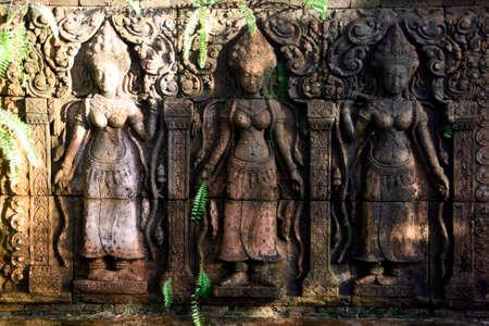 statues in the garden thailand photo
