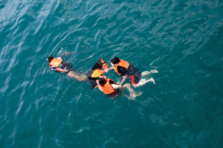 divers rescue marine nature in thailand Stock Photo - 1704244