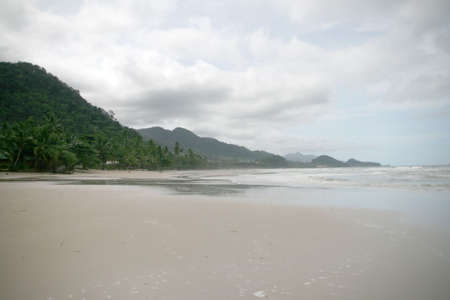 lanscape: beach view from tropical island