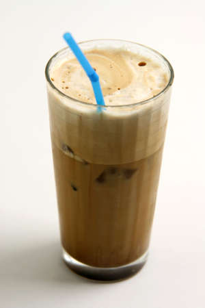 a glass of nice greek way ice coffee frape with milk