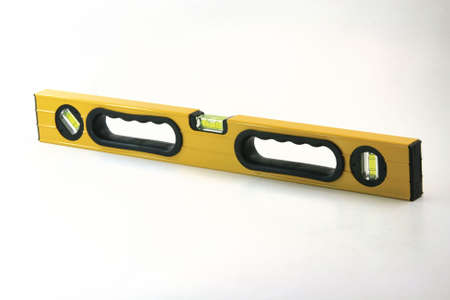 align: yellow align meter tool on white construction concepts