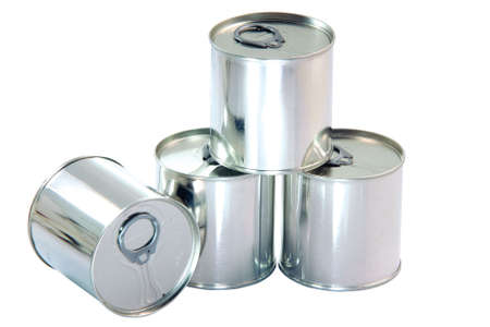 packaging industry: tin can aluminium packaging industry isolated on white background