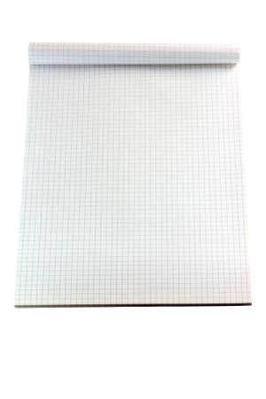 note book: quadrato linee nota libro bianco su bianco isolate backround