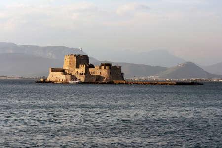 bourtzi: bourtzi sea castle at nafplio peloponnese landmarks of greece