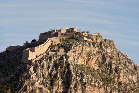 nafplio: fort of nafplio peloponnese landmarks of greece Stock Photo
