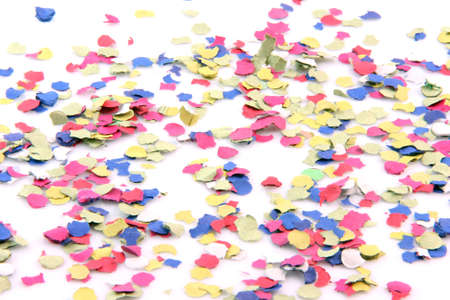 party abstract confetti isolated on white background
