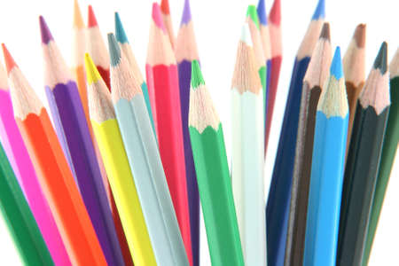multy: multy color pencils background isolated on white background creativity concepts