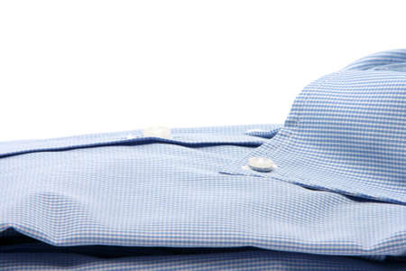 blue shirt closeup  isolated on white background with copy space fashion and clothing concepts