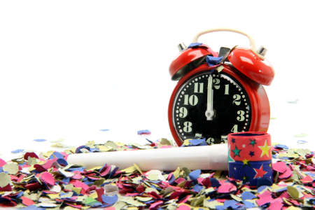 celebration and party time new years eve isolated on  white background Stock Photo - 3041127