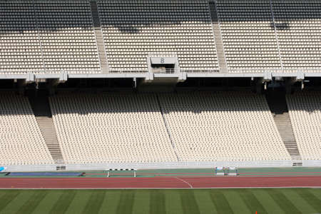 detail from athens olympic stadium filed and tiers photo