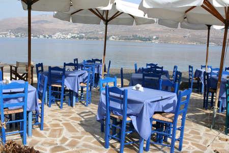 traditional greek sea taverna Leros island dodecanese greece
