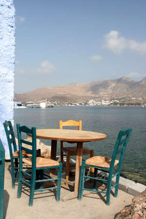 dodecanese: detail from traditional greek taverna Leros island dodecanese greece