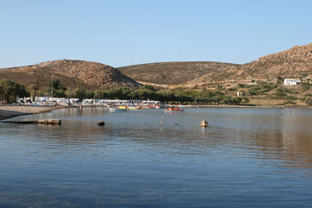 dodecanese: agrio livadi beach patmos island dodecanese greece travel vacations