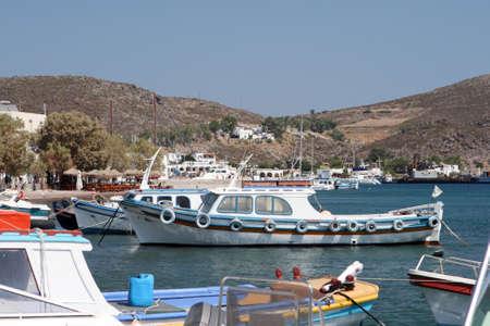 dodecanese: view of skala patmos island dodecanese greece Stock Photo