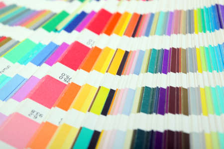 detail from pantone color scale  samples lithography printing industry for background use Foto de archivo